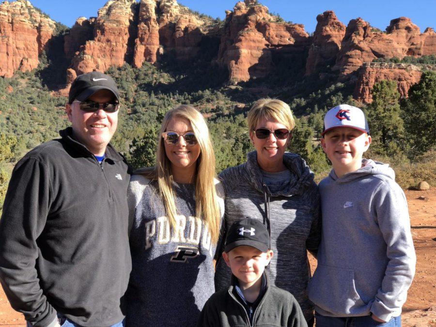 The Salyers family in Sendona, Arizona for Spring break.