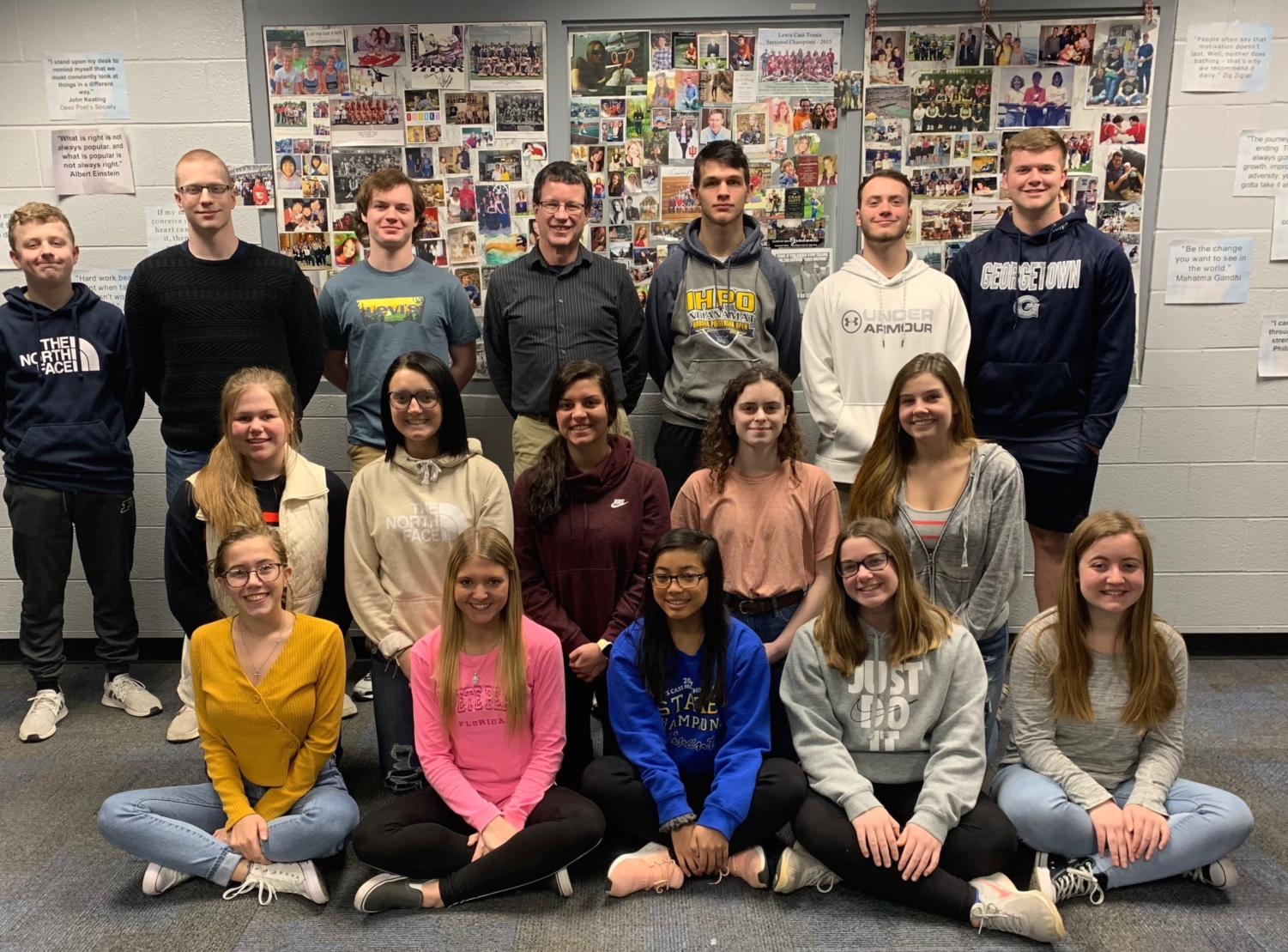 Front Row: Josie Woolever, McKayla Thompson, Bella Panmei, Megan Dishon, Katelyn Schreckenghaust,  Middle Row: Clara Licklider, Ashli Key, Brannyn Spencer, Kelsey Wise, Brooklynn Fye Back Row: Jack Salyers, Carl Jay, Levi Dyer, Engle, Alex Myers, Uriah Riemenschneider, Caleb Johnson Missing: Dixon Collins, Lauren Hileman, Reese Rodabaugh,