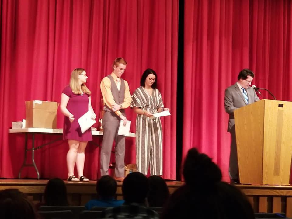 Megan Dishon, Cade Cox, and Ashli Key earned certificates for their achievements in AP English. They were just three of the 26 students to earn at least one award