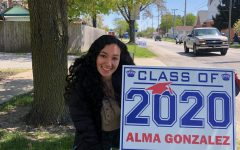 Seniors: send in your photo with your sign to engles@lewiscass.net : Aisha, Alma